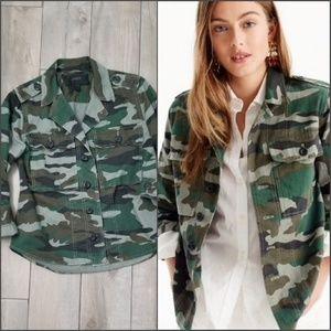J Crew cotton camo shirt jacket